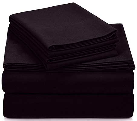 Pinzon Signature 190-Gram Cotton Heavyweight Velvet Flannel Sheet Set