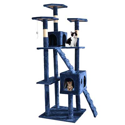 73-Inch Cat Tree Scratcher Playhouse Condo Furniture