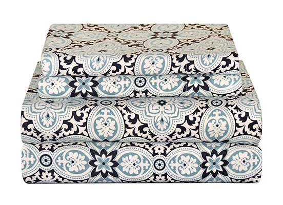 Pointehaven Heavy Weight Flannel Sheet Set, King, Ankara