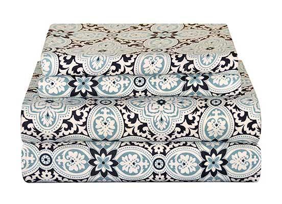 Pointehaven Heavy Weight Flannel Sheet Set, King, Ankara