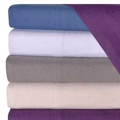 California King Flannel Sheet and Pillowcase Set
