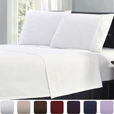 Mellani 100 percent Cotton 4 Piece Flannel Sheets Set