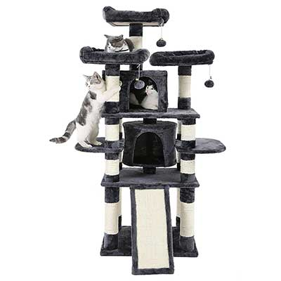 SONGMICS 67-Inch Multi-Level Cat Tree
