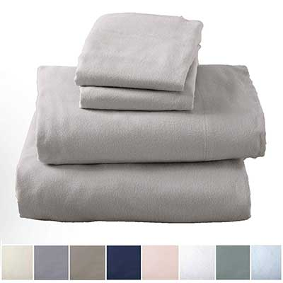 Great Bay Home Extra Soft 100 Percent Turkish Cotton Flannel Sheet Set