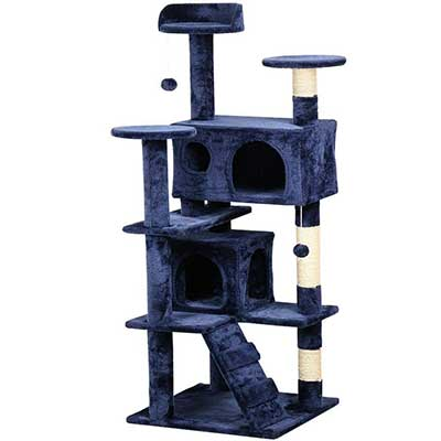 Yaheetech 51.2-Inch Cat Tree Tower Condo Furniture Scratch post for Kittens