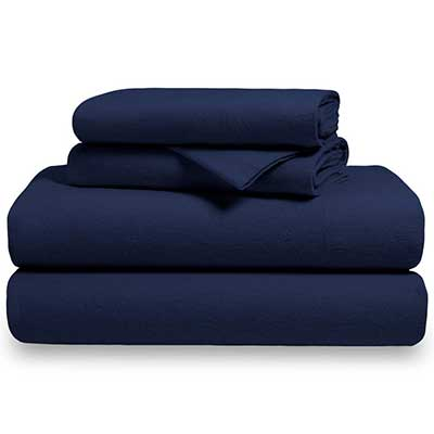 Bare Home Flannel Sheet Set 100 Percent Cotton