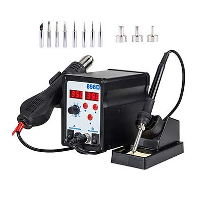 Tek Motion 898D 2 in 1 SMD Hot Air Rework Station and Soldering Iron