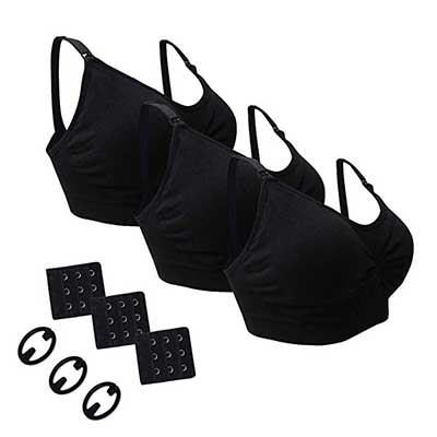 Desirelove Nursing Bra 3 Pack Maternity Seamless Bras