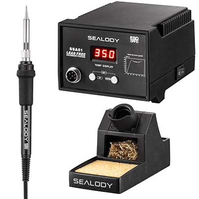 Digital Soldering Station with Pure Aluminum Soldering Stand