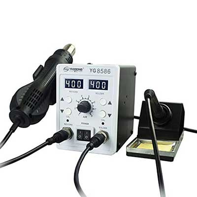 YAOGONG Automatic 2 In 1 Hot Air SMD Digital Rework Soldering Iron Station