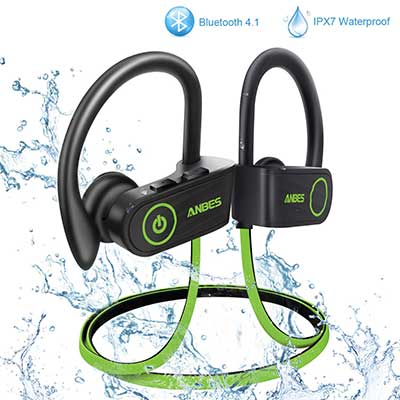 ANBES Bluetooth Headphones Wireless Earbuds, IPX7