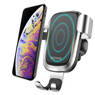 NOIHK Wireless Car Charger, 10W QI Gravity Car Mount Air Vent Phone Holder
