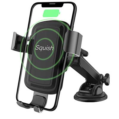 Squish Wireless Charger Car Phone Mount