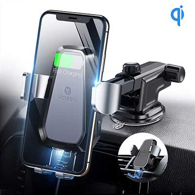 VICSEED Qi Wireless Car Charger, 10W