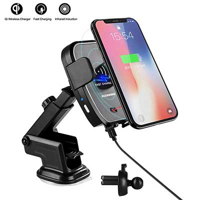 Qi Wireless Car Charger Mount