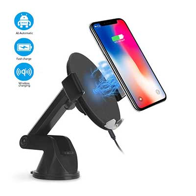 Automatic Sensor Wireless Car Charger Mount, Smart Touch