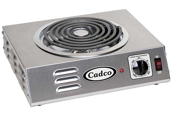 Cadco CSR-3T Countertop Hi-Power Single 120-Volt Hot Plate