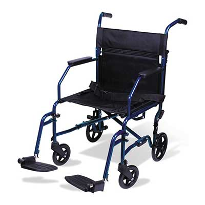 Carex Transport Wheelchair 19-Inch Seat
