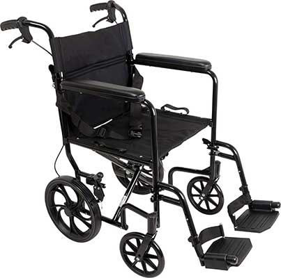 ProBasics Aluminum Transport Wheelchair with 19-Inch Seat