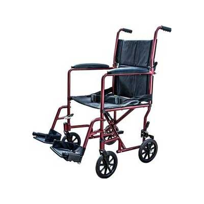 Aluminum Transport Chair Lightweight Wheelchair 19-Inches