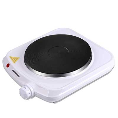 Homeleader Electric Hot Plate, Stainless Steel Countertop Corner