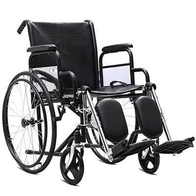 Giantex Folding Wheelchair Lightweight Wide Seat