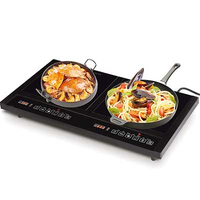 Costway 1800W Double Induction Cooktop