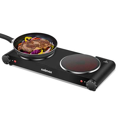 Cusimax Double Burner, Portable Electric Stove