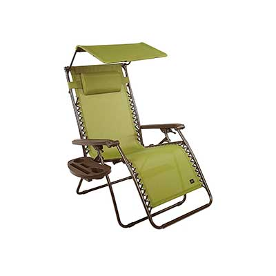 Bliss Hammocks Zero Gravity Chair with Canopy and Side Tray