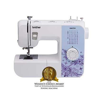 Brother Sewing Machine, XM2701 Lightweight Sewing Machine with 27 Stitches