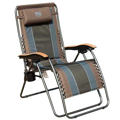 Timber Ridge Zero-Gravity Locking Patio Outdoor Lounger Chair