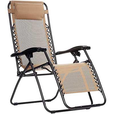 AmazonBasics Zero Gravity Chair, Beige
