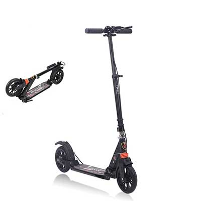 MONODEAL Adjustable Kick Scooter for Adults