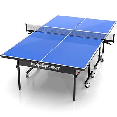 GamePoint Tables Indoor Ping Pong Table with Locking Casters