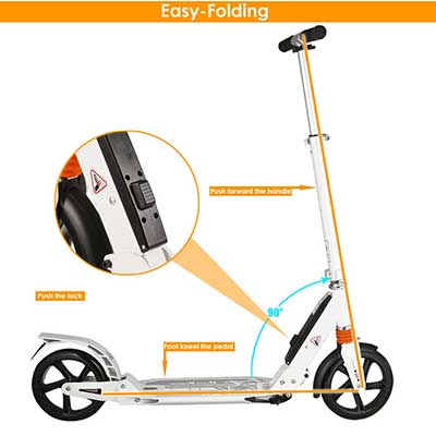 Kids/Adult Scooter with 3-Seconds Easy Folding System