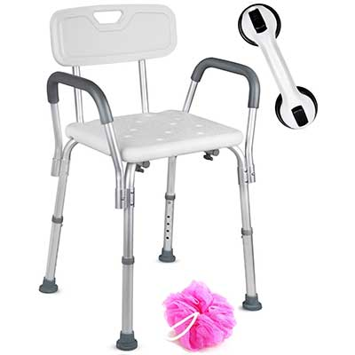 Dr. Maya Adjustable Shower Chair with Back and Arms