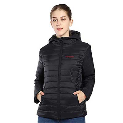 CONQUECO Women's Heated Jacket Slim Fit