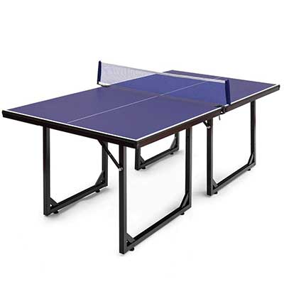 GOPLUS Foldable Indoors/Outdoors Ping Pong Table