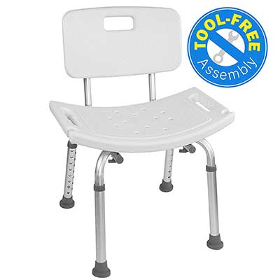 Vaunn Medical Tool-Free Assembly Spa Bathtub Chair