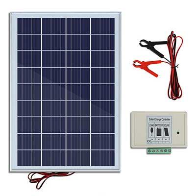 ECO-WORTHY 20W 12V 1P65 Solar Panel Kit