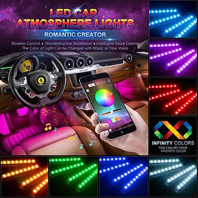 wsiiroon Car LED Strip Lights
