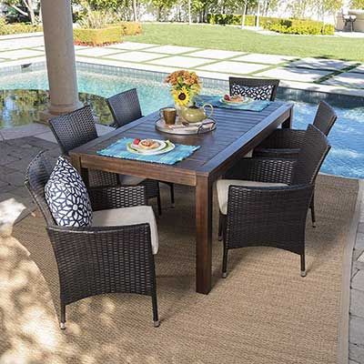 Christopher Knight Home TAFT Outdoor 7 Piece