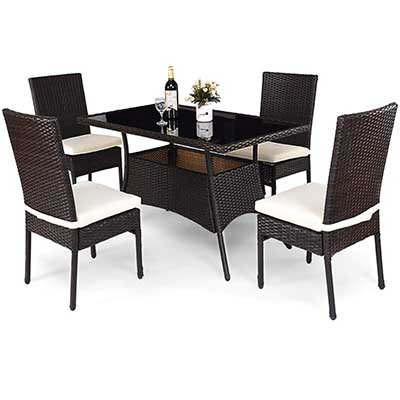 Tangkula Patio Furniture, 5PCS