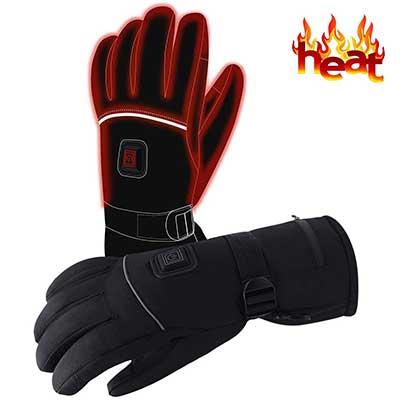 Autocastle Men Women Rechargeable Electric Warm Heated Gloves