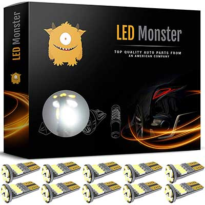 LED Monster 10Pcs LED Interior Car Lights