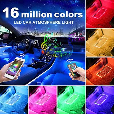 GBAuto USB Car Interior Lights LED