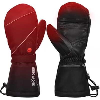 Heated Gloves, Men Women Heated Ski Gloves