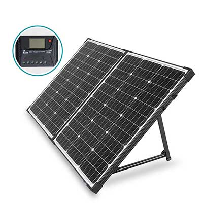 HQST 100 Watt 12 Volt Off-Grid Monocrystalline Solar Panel
