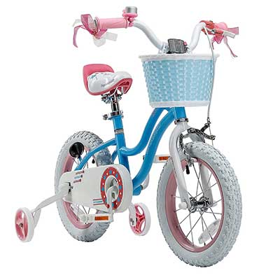 RoyalblBaby Stargirl Girl's Bike with Training Wheels