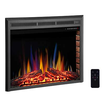 R.W FLAME 36-inch Electric Fireplace Insert